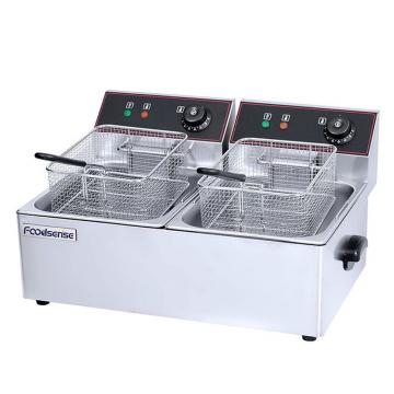 SAA CE Approval Double Tank Fish Fryer Machine