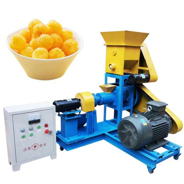 Puffed Chip Corn Rice Ring Curls Stick Core Filling Cheese Ball Inflating Twin Screw Breakfast Cereal Coco Pop Kurkure Fried Snack Fried Bar Food Making Machine #1 image